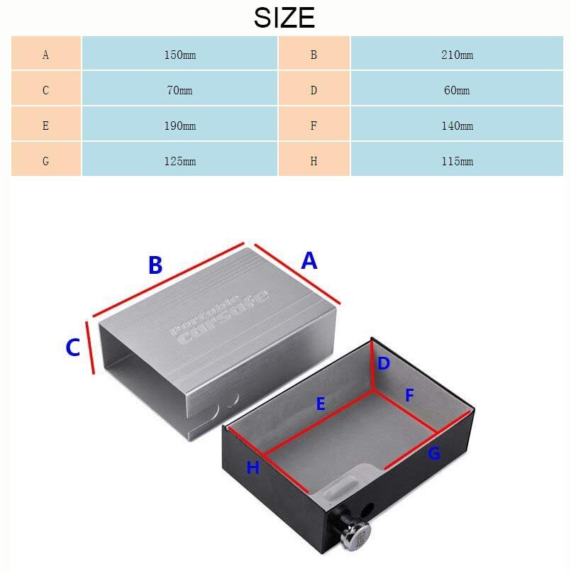 Car Safes Portable Safe Box Password Lock Safes Jewelry Cash Pistol Storage Box Aluminum alloy Security Strongbox Cable Fixed (25)
