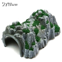 DIY Sand Table Model Railway Train Tunnel Cave Model 1:87 Scale Garden Miniatures Figurines Art Crafts Gift For Boys Home Decor(China)