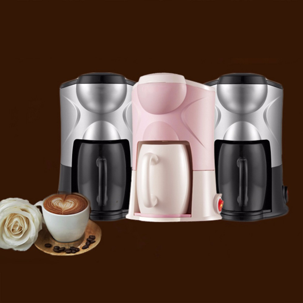 Classic Electric Coffee Automatic Machine Multifunctional Drip Single Serve Latte Maker With US/EU Power Adapter Converter <br>