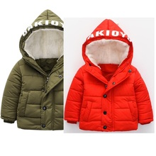 2017 new arrival for Autumn & winter outer coat warm baby boy and girls jacket with fleece thick clothes hand plug jacket