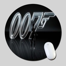 7 James Bond 2016 Round Gaming Mouse Mats Mice Pad for Size 200*200*2mm