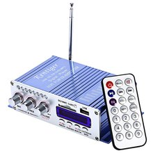 Kentiger HY-502 2CH Hi-Fi Stereo Low Distortion Low Noise Output Power Amplifier USB SD Card Player With Remote Control Function(China)
