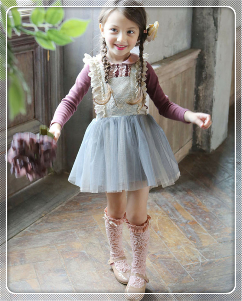 Kids Tulle Lace Bow Party Dresses Baby Girl TuTu Princess Dress Suspender Dress for 7-15Y High Quality Free Shipping<br><br>Aliexpress