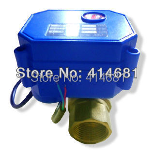 DN15 electric valve 2 way, 1/2 electric ball valve 5 wires, DC3-6V electric motorized valve in brass<br><br>Aliexpress