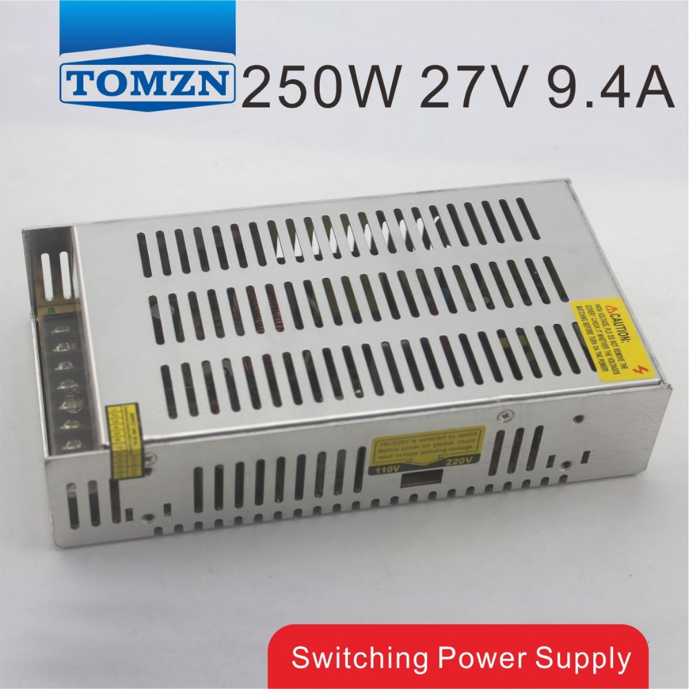 250W 27V 9.2A Single Output Switching power supply for LED Strip light AC to DC<br>