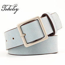 Buy 2017 Retro Fashion PU leather women belt Wide belt Female Belts Square metal pin buckle belts women Lady girdle for $6.33 in AliExpress store
