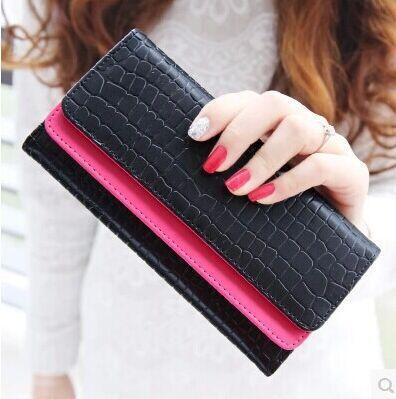 New 2015 Women Wallets Quality Leather Brands Famous Woman Wallet Lady Fashion Clutch Woman Purses Cowhide Wallets<br><br>Aliexpress