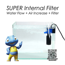 Super Aquarium Internal Air Pump for Air Oxygen Increase, Submersible Air Compressor for turtle fish tank, Filtering Water Flow(China)