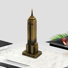 1 Pcs Metal Architecture American Model Empire State Building Famous Decoration(China)
