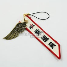 Japan Airline   Luggage bag Tag with Metal Wing White Gift for Aviation Lover Flight Crew