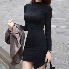 Buy 2017 Women's Autumn Spring Dresses Robe Sexy Black Slim Bodycon Dress Long Sleeve Elegant Package Hip Vestidos Winter Dress Work for $14.79 in AliExpress store