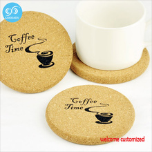 Promotion decoration gift customized table mat cork coaster coffee tea drink coasters