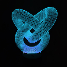 NEW 7 Color Changing Night Lamp 3D Bulbing Light Heart Visual Illusion LED Lamp for kids Toy Christmas Gifts Home Table Decor(China)