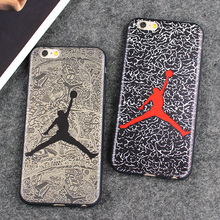 Air Jordan Silicone Slim Back Cover for iPhone 6 6s 7 Skin NBA Soft Phone Case For iphone 7 Plus 6 6S Plus 5 5S SE Shell Fundas