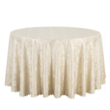 10PCS Decor Dining Tablecloths Solid Polyester Jacquard Round Table Cloth Hotel Wedding Table Cover Damask Table Linens White