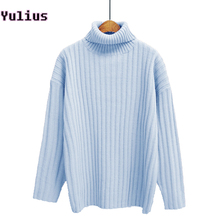 Loose Turtleneck Women Sweater 2017 Winter New Fashion Warm Pullovers Candy Colors Pull Femme Comfort Soft Knitted Pullover