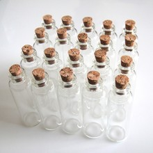 20 Pcs 16x50mm 5ml Wish Bottles Tiny Small Empty Clear Cork Glass Bottles Vials For Wedding Holiday Decoration Christmas Gifts