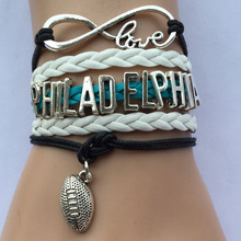 Drop Shipping Love Philadelphia Football Bracelets- NCAA School Team Fans Gift(China)