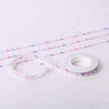 10 PCS  DIY Washi Tape Paper Decorative Love Heart Adhesive Masking Sticker Tapes Office Stationery