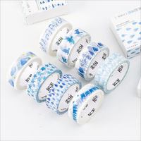 1 piece/lot Creative Blue Decorative Washi Tapes Album Notebook DIY Sticker Tape Daily Decoration Paper Tape