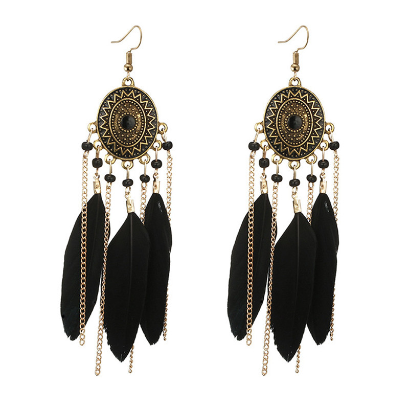 2018 Trendry Earrings for Women Vintage Women Bohemian Fashion Weave Tassel Earrings Long Drop Earrings Jewelry Brincos J05#N (7)