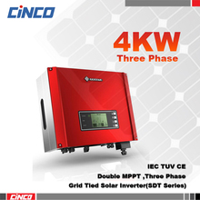 GW4000-DT,Double MPPT Three phase Grid tied inverter,4KW 400VAC 50/60HZ voltage output for solar home system