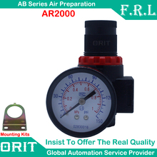 AR2000 G1/4'' Thread Pneumatic Mini Air Pressure Reducing Regulator Air Source Treatment Unit W/ Gauge And Bracket On Sale