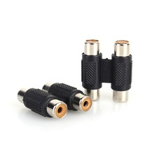 10pcs/set RCA Female to Female Coupler Plug Audio Video AV Cable Adaptor RCA Double Row