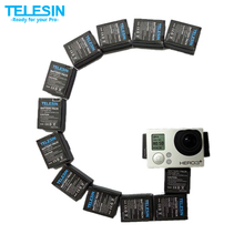 Original TELESIN Li-ion Battery Pack 3.7V 1300mAh AKKU AHDBT-302 Replacement Battery for GoPro Hero 3+ Hero 3 Plus Accessories