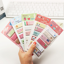 3 PCS Office Stationery Romantic Memo Pad Sticky Kawaii Paper Stickers Bookmark Tab Flags Memo Book Marker Sticky Notes