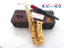 Big promotion Mp3 xas-300 saxe Imported leather pad Natural pearl button Electrophoretic gold E Alto Saxophone professional