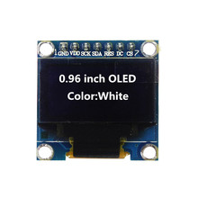 0.96 inch OLED White Display Module 128X64 OLED I2C IIC SPI 7pin Driver Chip SSD1306 for arduino Diy Kit(China)