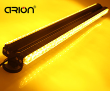 "Hot Sale 35"" Magnets 6*12 72 LED Waterproof Car Truck Work Light Bar Beacon Emergency Strobe Flash Lights Yellow Amber(China)"
