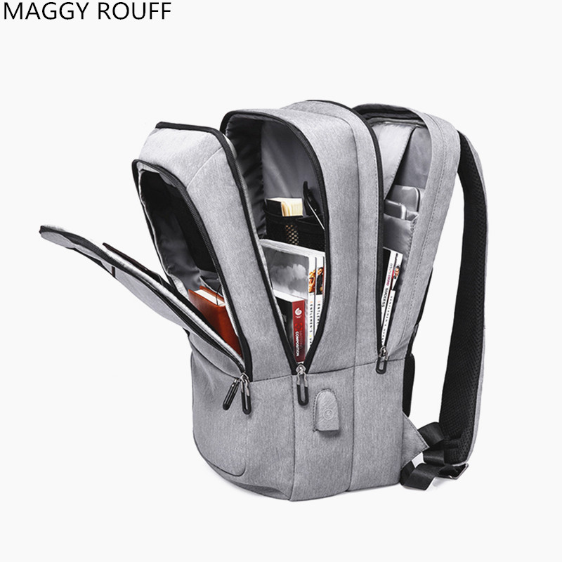 2018 The New Women Men Backpack Anti-Theft USB Charging Interface 17 inch Laptop Backpack School Backpack College Students Schoo<br>