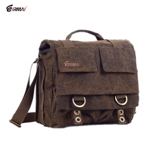 Eirmai SS05(M) Medium Size Single Shoulder Bag Handbag Leisure Canvas Camera Messenger Bag Coffee Color