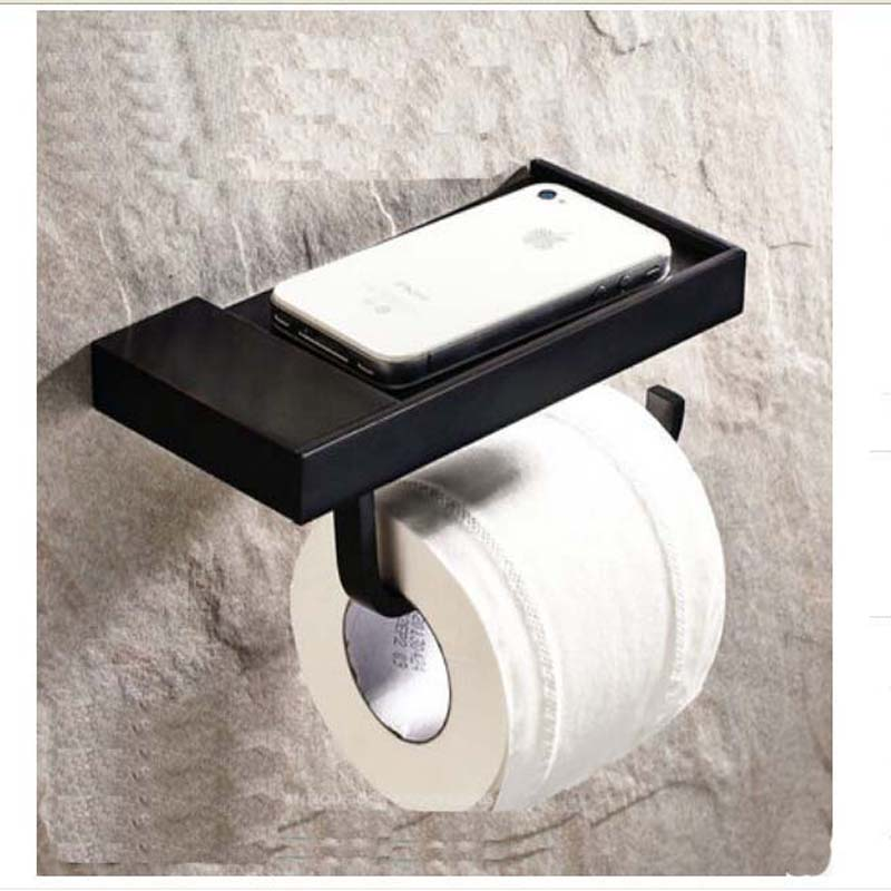 Free Shipping Wholesale And Retail Promotion Modern Square Oil Rubbed Bronze Wall Mounted Toilet Paper Holder Tissue Hanger<br>