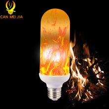 Buy New E27 Led Flame Effect Fire Lamps Light Bulbs 110V Flickering Emulation Flame Lamp 220V Lantern Chrismas Party Decoration for $8.51 in AliExpress store