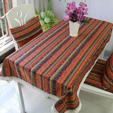 Bohemian home Table Cloth dining table mat coffee tea table tablecloth Lace Edge Cover Rectangular bar restaurant decoration