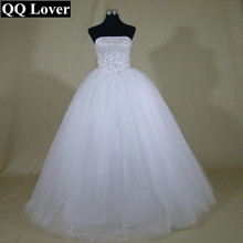 Buy QQ Lover Ball Gown Wedding Dresses Princess Luxury Beads Wedding Gowns White Vestido De Noiva Casamento Bride Dress for $66.22 in AliExpress store