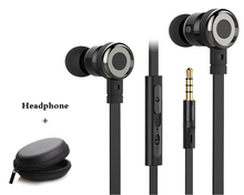 FQ002 flat wire earphone stereo bass hifi headset with mic for iPhone xiaomi mi 5 6 redmi 4 samsung huawei sony oppo phones mp3