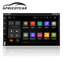 APRICOTCAR Quad-core 1.6GHz 1024X600 Android 7.1 Car DVD Player GPS Navigation Bluetooth Large Touch Screen HD Stereo Radio New