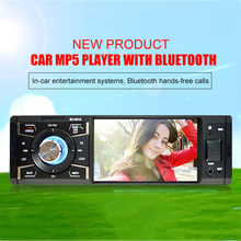 "Auto MP5 Car Multimedia Player 1 DIN with 4"" HD Digital Screen Bluetooth FM Radio MP3 MP4 Player Reverse Image SD USB Charger"