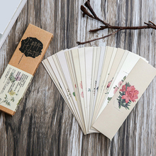 30 pcs/lot Chinese Style Paper Bookmark Vintage Retro Flower Book Mark For Books School Material Free Shipping