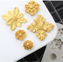 European flowers mold Retro relief flower silicone mould fondant mold Cake Decorating Mold chocolate gumpaste moulds(China)