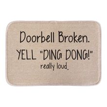 "Animals Welcome Doormats Funny Sign ""Doorbell Broken Yell Ding Dong"" Home Decorative Door Mats Short Plush Fabric Bathroom Mats"