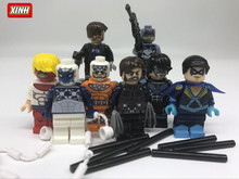 xinh 120pcs  Building Blocks Captain boomerang Punisher ninghwing space spiderman Marvel Super Heroes BricksGifts Toys PG8058