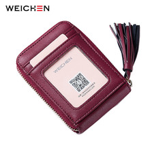 12 Slots Brand New Design Women's Leather Mini ID Credit Card Holder Case Causal Card Keeper Organizer Purse with Photo Pockets(China)