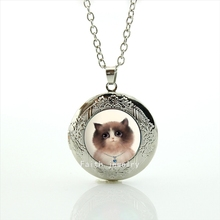 Hot sale cat pendant  necklace  vintage long chain  animal necklace women costume  jewelry HH028