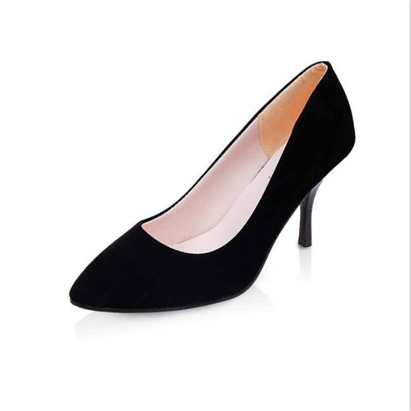 2017 Spring And Summer Women s Shoes  Section Pointed Shallow Mouth Female Korean Version Of Suede High Heels .LSS-709<br><br>Aliexpress