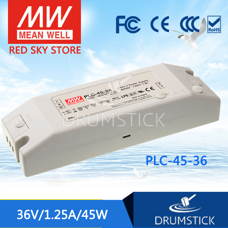 hot-selling MEAN WELL PLC-45-36 36V 1.25A meanwell PLC-45 36V 45W Single Output LED Power Supply<br>